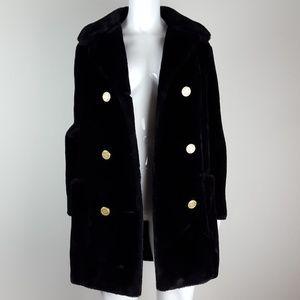 Vintage 70's Susan Lynn Black Faux Fur Coat
